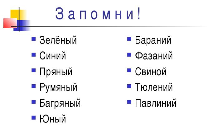 Отыменные прилагательные - что это, правописание с примерами