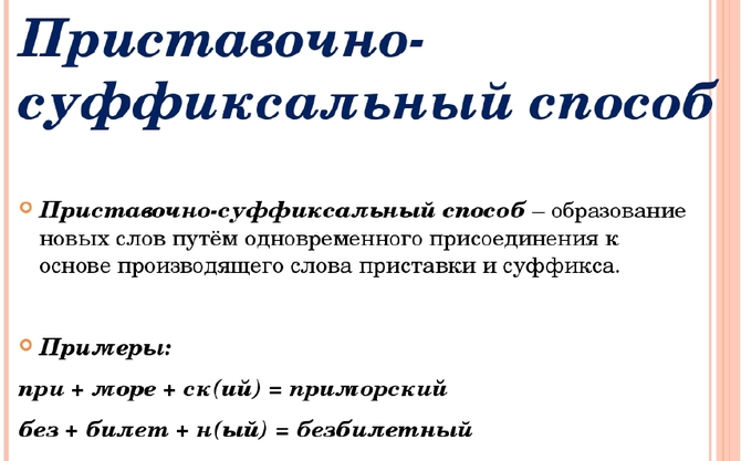 Словообразование прилагательных: основные способы
