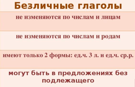 Определяем лицо глагола в русском языке по таблице