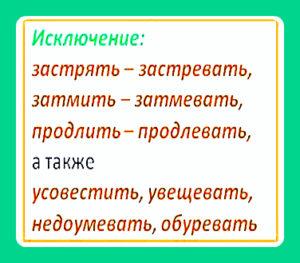 Правописание суффиксов -ова, -ева, -ыва, -ива в глаголах