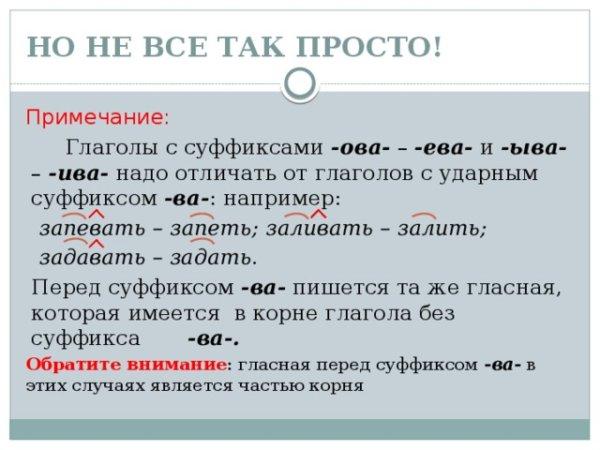 Суффиксы глаголов в русском языке – таблица с примерами